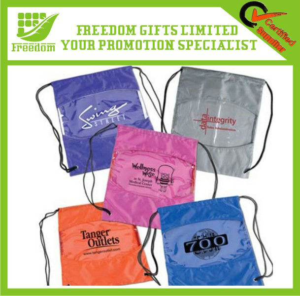 Popular Shape Advertising Small Drawstring Bag