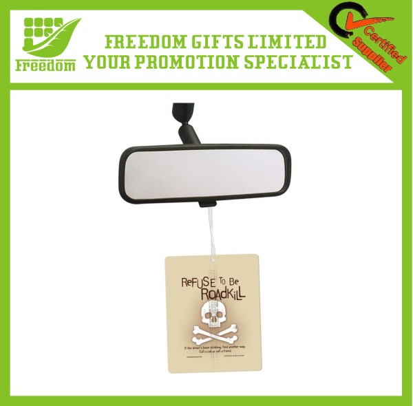 Promotional Gifts Skull Logo Paper Car Air Freshener Scented Paper Card