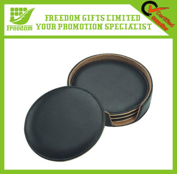 High Quality Blank Leather Coffee Coaster