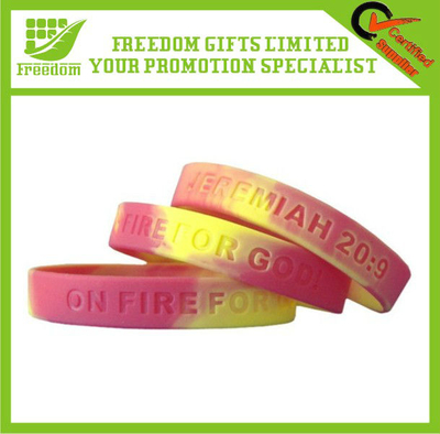 Promotional Fashion Debossed Silicone Wristband Bracelet
