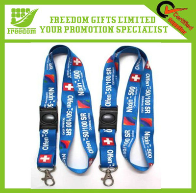 Safety Clip Popular Custom Printed Lanyard