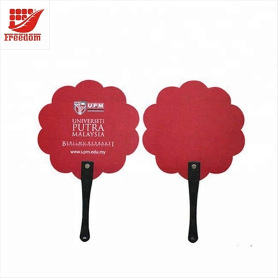 Logo Customized Printed Promotional Plastic Fan