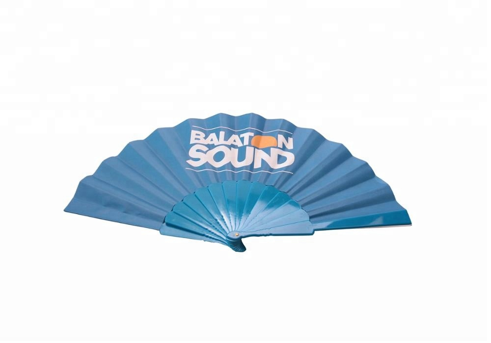 Custom Logo Advertising Plastic Hand Folding Fans