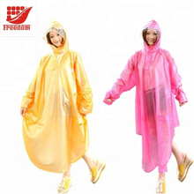 PE Silk Screen Printing Cheap Rain Jacket