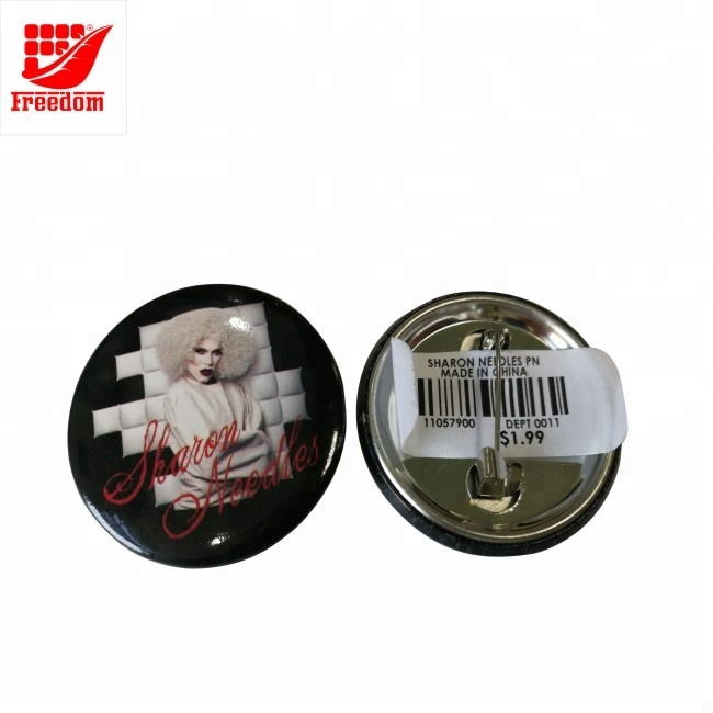 Customized Logo Printed Wholesale Safety Pin Button Tin Badge