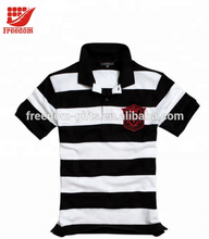 High Quality Pique Material stripe Shirt With Collar