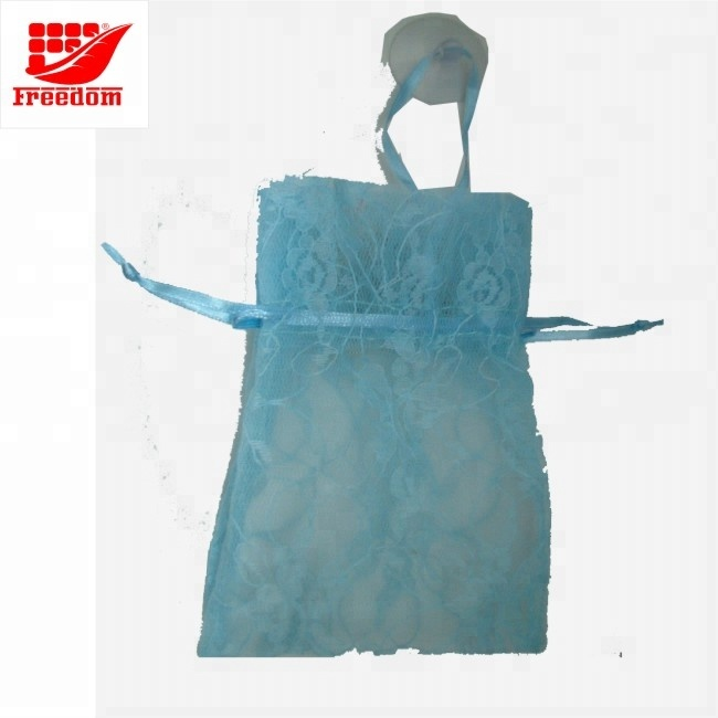 Customized Wholesale Large Organza Bag With Logo Ribbon