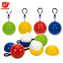 Give Away Logo Printed Golf Safe Rain Disposable Poncho Ball