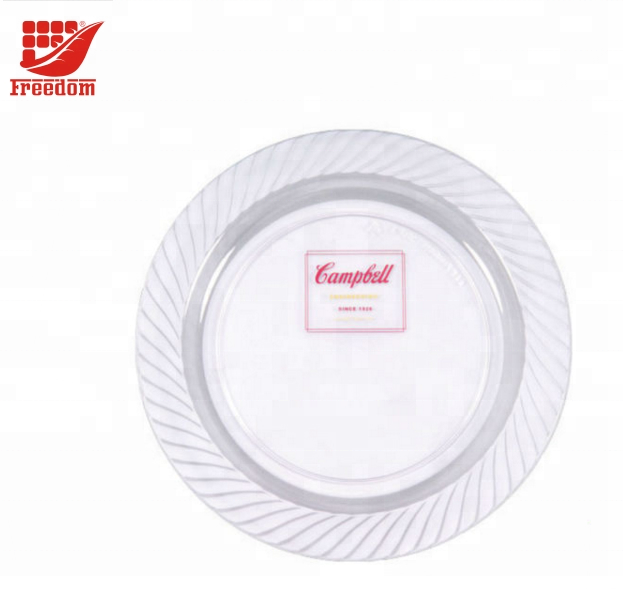 Plastic Plate With Printed Logo For Promotion