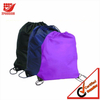 Customized one color printed polyester drawstring bags