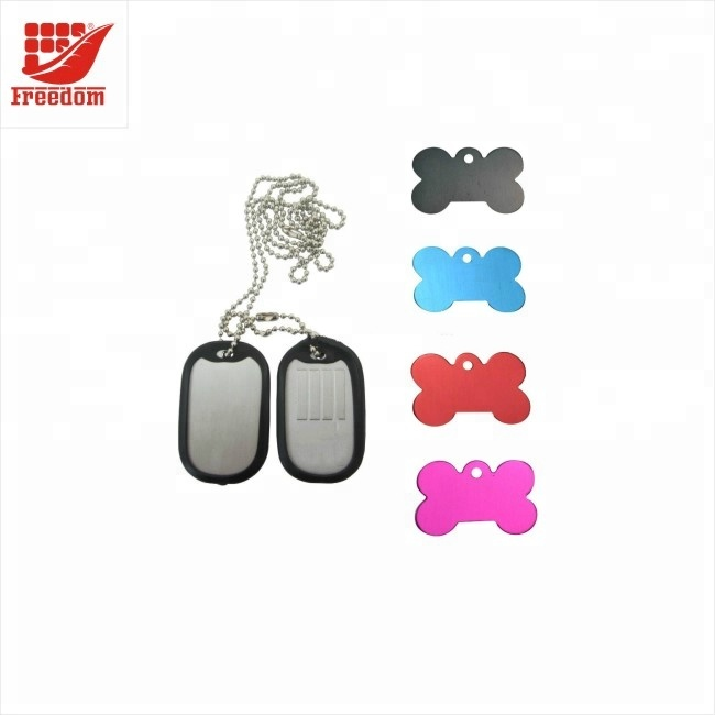 Fashion Men's Stainless Steel Dog Tag Keychain
