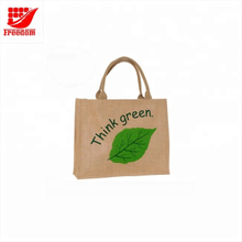 Customized Printed Organic Eco Friendly Jute Tote Bag