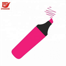 Promotional Stationery Custom Logo Markers Multiple Color Highlighter Pens