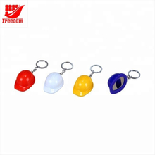 Promotional Customized Logo Plastic Safety Helmet Key Chain