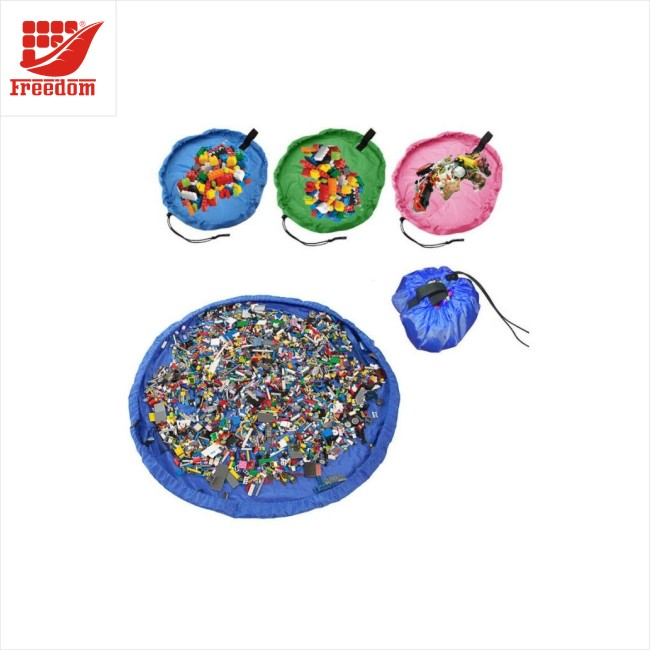 Hot Sale Multi-function Kids Play Mat Foldable Drawstring Storage Bag